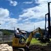 地盤改良工事 作業完了